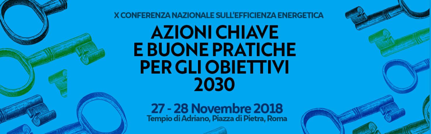 X Conferenza nazionale per l'Efficienza Energetica 27-28 novembre